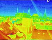 the city of Aachen, Germany: thermographic picture
