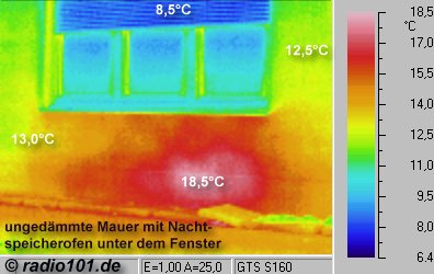 thermal pictures: Heater - thermographic picture - infrared photograph