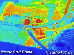 infrared image / thermographic photography / thermal picture: Automotor