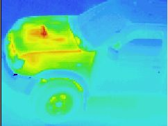 Thermographic picture - infrared photograph: off-road car