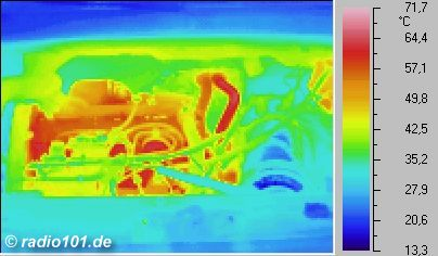 Motor (thermographic foto / thermal picture)
